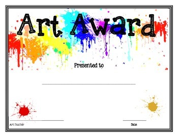 key club powerpoint template - art award by art shop teachers pay teachers