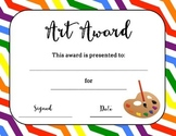 Bundle of Art Awards - Certificates