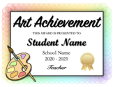 Art Award Certificates