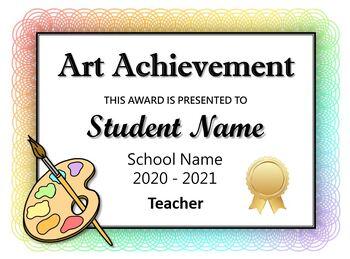 Art Award Certificates