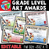 Art Awards By Grade Level