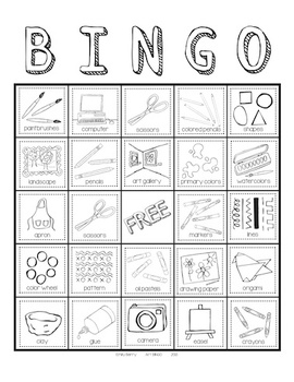 Art BINGO for Elementary