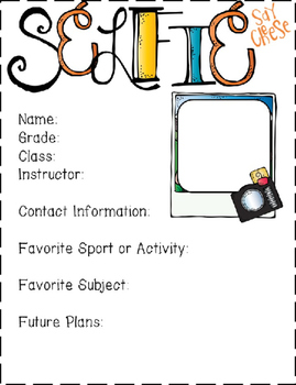 Art Back to School Interactive Notebook / Scketchbook Selfie Page