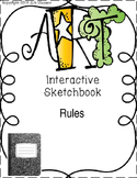 Art Back to School Interactive Notebook / Sketchbook Rules