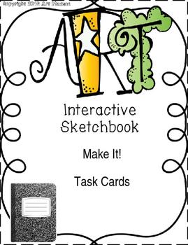Art Back to School Interactive Notebook / Sketchbook Task Cards