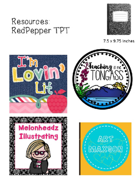 Art Back to School Interactive Notebook / Sketchbook Thumbnail Page