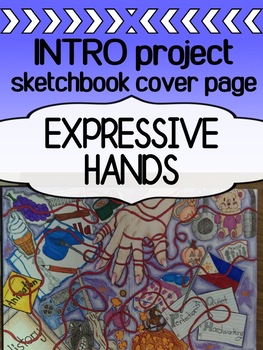 Art Back To School Project Sketchbook Cover Page Expressive Hands