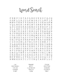 Art-Based Word Search