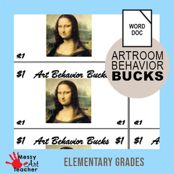 Art Behavior Bucks for Elementary School