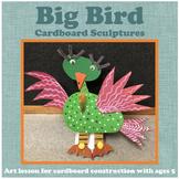 Art: Big Bird Cardboard Construction (sculpture)