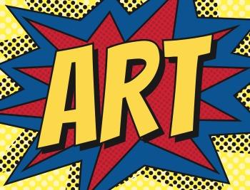 Art Binder Cover Pop Art Theme
