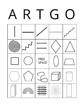 Art Bingo ARTGO Line and Shape