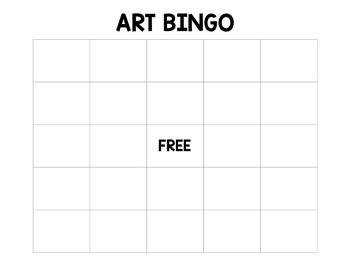 Art Bingo Game