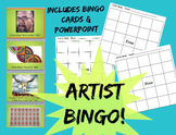 Art Bingo Game Famous Artists Art History Game Sub Lesson
