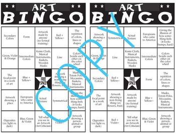 Art Bingo (Kentucky Core Content)