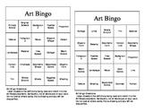 Art Bingo Review Game