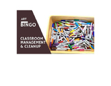 Art Bingo, for Classroom Management and Cleanup