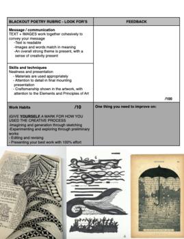 Art - Blackout Poetry - Art Assignment