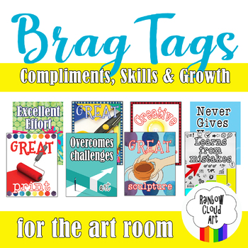 Art Brag Tags, Set II: Compliments, Skills & Growth, PDF