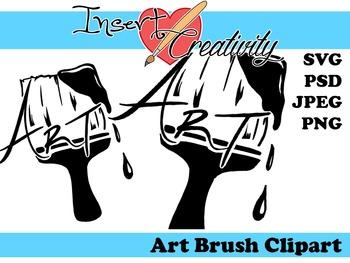 Art Brush Clip Art - SVG JPEG PNG PSD