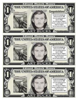"""Art Bucks """"Munch Money"""""""