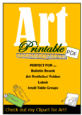 Art, Bulletin Board, PDF's, Portfolio Decorations, Folder,