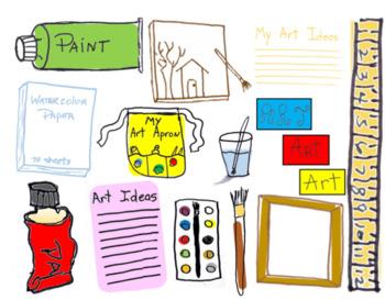 Art, Bulletin Board, PDF's, Portfolio Decorations, Folder, Small Group