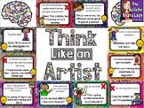 Growth Mindset Art Bulletin Board - Think Like an Artist