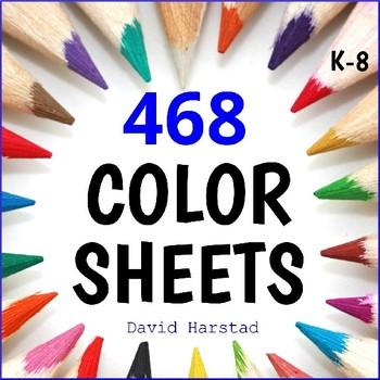 Art Bundle | 468 Summer Coloring Pages | People, Places, Events (K-6)