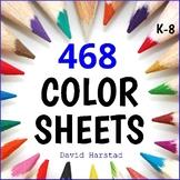 Art Bundle | 468 Summer Coloring Pages | People, Places, E