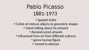 Art CLass Picasso vs. Matisse