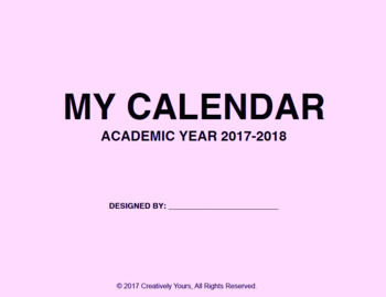 Art Calendar Project: Academic Year 2017-2018, 2018-2019 (TWO Year)