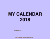 Art Calendar Project: Calendar Year 2018 and 2019 (Two Year)
