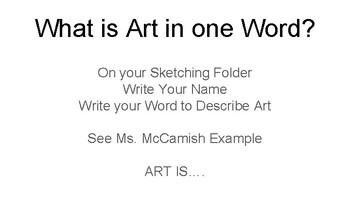 Art Camp - 1 Week Plan