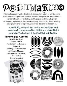 Art Careers Printmaking