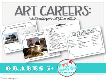 Art Careers: What do I want to be when I grow up?