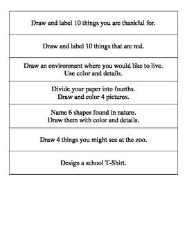 Art Center - 15 Prompts