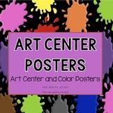 Classroom Decor Art Center Posters
