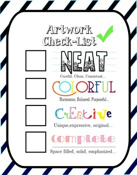 Art Check-List Poster