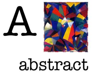 Art Class Alphabet Posters