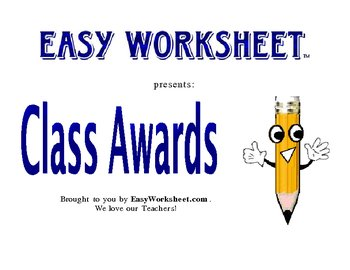 Art Class Awards