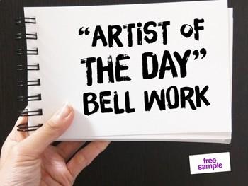 Art Class Bell Work:  FREE!