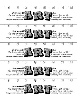 Art Class Bookmark