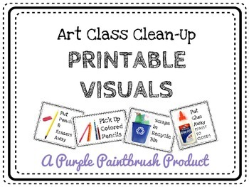 Art Class Clean-Up: Printable Direction Visuals