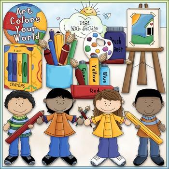Art Class Clip Art - Painting Clip Art - Coloring - CU Cli