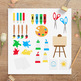 Art Class Clipart, School Clip Art, Back to School Clipart, Art Supplies, Paint