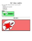Art Class Color Labels