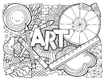 Art Class Coloring Page