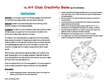 Art Class Creativity Game - Easy Design Game for K-12 - FREE