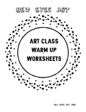 Art Class Drawing Warm Up Worksheets